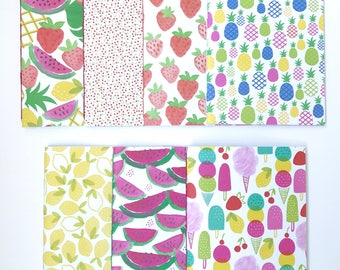 Tutti Frutti Softcover Notebook Travelers Notebook Travel Diary Lined Notebook Hand Bound 32 Lined White Pages *** Sold Individually ***