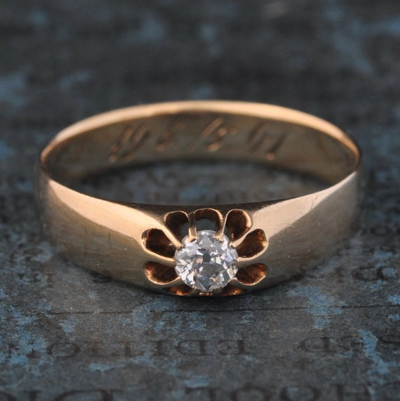 Victorian Engagement Ring-Antique Old Mine Cut Diamond