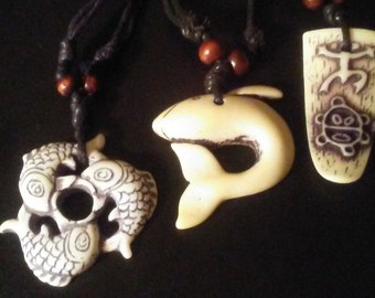 One trio white prosperity fish, dolphin and warrior turtle tongue, free shipping