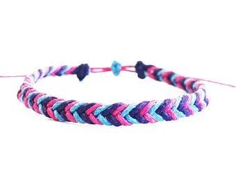 Fish Tail Braid Bracelet, Custom Friendship Bracelets, Personalised Bracelet, Best Friend Long Distance Friendship Bracelet, Gifts for Girls