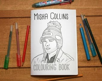Misha Collins Colouring Book
