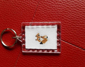 Simple Fox Keychain