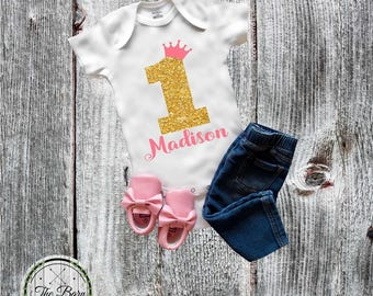 Birthday Girl onesie®, Birthday Shirt, 1st, 2nd, 3rd Birthday, Baby onesie®, Princess Birthday, First birthday outfit, Custom onesie shirt