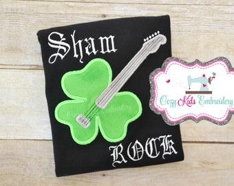 Sham Rock Shirt, Shamrock Shirt, St. Patrick's Day shirt, Saint Patrick's Day Shirt, Boy's Shirt, Irish Shirt, Shamrock Shirt, Applique