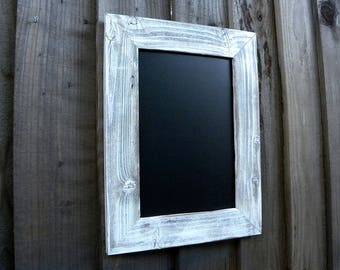 Rustic Chalkboard with White Wooden Frame. Kitchen Menu. Menu Chalkboard. Rustic Wedding Menu. Farmhouse Decor. Rustic Restaurant Menu