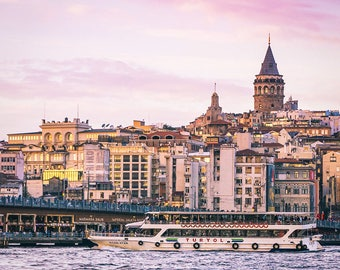 Photographie Fine Art - Vue sur la tour de Galata - Toile photo - Istanbul - Turquie