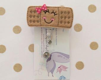Bandaid reel badge- band-aid reel badge- pediatric nurse reel badge- pediatric reel badge- emt reel badge- er reel badge-cna reel badge