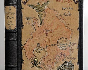 1953 ~ PETER PAN ~ J.M. Barrie, Illustrated by Nora S. Unwin, Restored & Rebound in Leather
