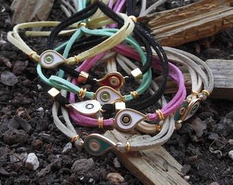 Evil Eye Bracelet, Evil Eye Jewelry, Protection Bracelet,Friendship Bracelet, String Bracelet, Minimalist Bracelet, Minimalist Jewelry, Yoga