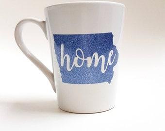 Custom Home State Coffee Mug, State Love Coffee Cup, Housewarming Gift, State Mug, Home Coffee Mug, State Coffee Mug