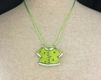 Who doesn't need a summer flowered beach shirt? This one is a ceramic necklace