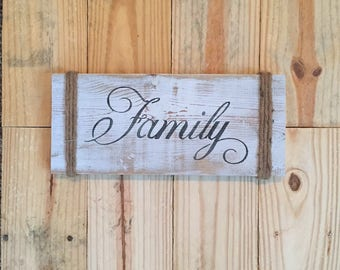 Reclaimed Wood Family Sign