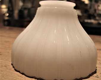 Vintage Milk Glass, Pendant Light Shade