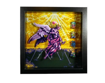 Final Fantasy VI (SNES) Kefka Final Battle CUSTOMIZABLE Shadow Box