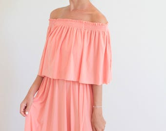 Peach color dresses sandals antigua