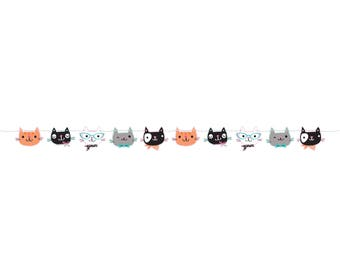 Cat Banner - Meow Birthday - Kitten Birthday - Kitty Birthday - Cat Birthday - Kitty Baby Shower - Cat Party Supplies - Party Decorations