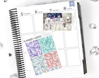 Wild at Heart Gem Header Stickers & Double Box Bundle | 36 Stickers | Planner Stickers | For Erin Condren LifePlanner
