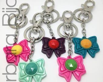 Sailor Moon-sailor Bow Warrior-keychain-accessory bag-backpack-gift idea-handmade-Polyshrink.