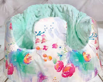 Indy Bloom Pastel Watercolor Mint Bumbo Seat Cover
