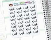 Work Planner Stickers - Script Planner Stickers - Work Planner Stickers - Planner Stickers - Fits Most Planners - 255