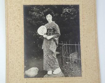 Japanese old photo, Yukata ( summer kimono) cloth Ad/catalog, ref5