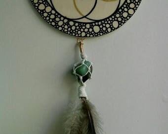 Seed of Life - Wall Hanging - Green Aventurine - Labradorite