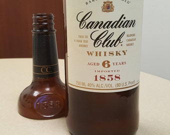 Canadian Club Whisky 6 Years - Wine Bottle Candle