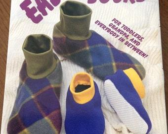 Easy Slipper Socks, fleece slippers, non-skid slippers, all sizes slippers, Slipper with cuff,