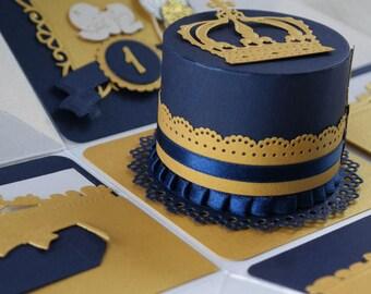Royal Birthday Invitation, Golden First Birthday Invite, Baby Boy Favor Box, Prince Baby Shower Invitation, Ferrero Rocher Invite Box