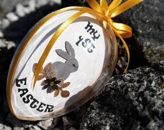First Easter Egg, Easter Egg Decoration, First Baby Easter Gift, Personalized Unisex Easter Egg Keepsake, Scandinavian Easter Home Decor