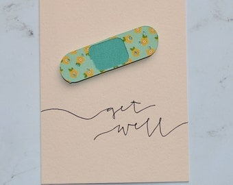 Get Well Bandaid Greeting Card