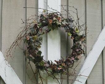 Rustic Wreath, Farmhouse Wreath, Front Door Wreath, Country Home Decor, Summer Wreath, Housewarming, Rustic Home Decor, Country Decor