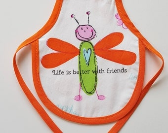 Wine Bottle Apron, Life is better with friends, Novelty Gift, Unique Gift Idea, Bottle Cozy, Gift for a friend, Gift for Her, Gift for Him