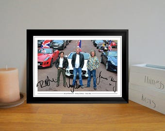 Top Gear Clarkson, Hammond & May Autographed Signed Photo Print