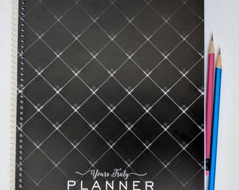 2018 Hairstylist Day Planner | Black with Stars | Weekly | 13 months Jan 18 - Jan 19 | Appointment Book | Scheduling | Salon | Dated | Gift