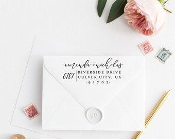 Return Address Stamp, Address Stamp, Custom Address Stamp, Wedding Return Address Stamp, Personalized Return Address Stamp, Rubber Stamp 109
