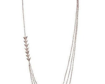Vale Asymmetrical Layered Layered Chain Long Necklace