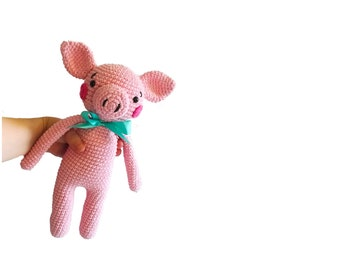 READY TO SHIP: handmade crochet - pig - kawaii - amigurumi - gift for kids