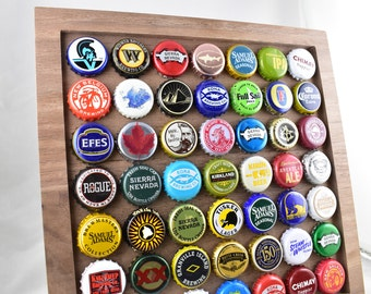 Beer cap art etsy for Beer bottle picture frame
