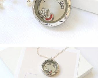 I Love You To The Moon and Back Necklace, Birthday Gift for Her, Birthday Gift for Fiance, Birthday Gift for Wife, Birthday Gift Girlfriend