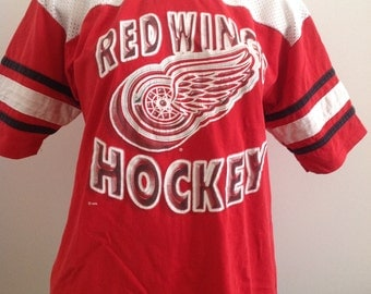 Vintage Detroit red wings hockey t-shirt