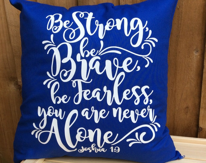 Featured listing image: Bible Verse Scripture Cushion Cover Joshua 1:9