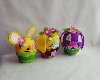 Easter catnip toy - felt rabbit bunny - unique catnip toys - toy for cat - kitten toys