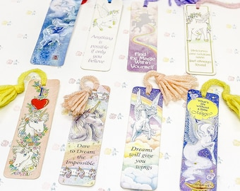 1980's Unicorn Bookmarks | Unicorn Best Friend Gift | Sister Gifts | Granddaughter Gift | Unicorn Lover | Rainbow Unicorn Book Lover Gift