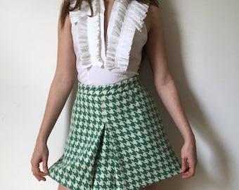Mod Houndstooth Skirt
