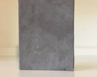 Leather Notebook - Small, Gray