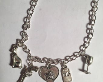 DIE, CUPID, DIE! anti-valentine's day charm necklace