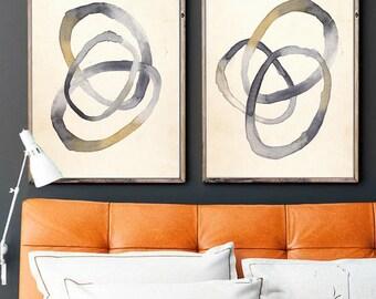 Modern Wall Art ,Set of 2 Prints, Set of 2 Wall art , Set of 2, Wall Art, Modern Art, Abstract Art, Watercolor Art, Prints, Digital Download