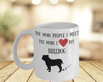 English Bulldog Lover Mug- Dog Owner Quote Mug Idea For Her- Bulldog Personal Mugs His Hers- If You Can Read This Dog Mama Bear Mug