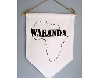 Wakanda Sign / Black Panther Wall Art / Wakanda / Wakanda Forever / Black Panther Marvel / Black Panther Party Banner / Wakanda Map Sign